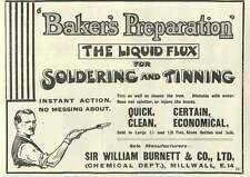 1926 Sir William Burnett Chemical Department Millwall Liquid Flux Old Advert