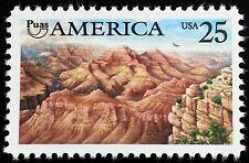 1990 25c Pre-Columbian America, Grand Canyon Scott 2512 Mint F/VF NH