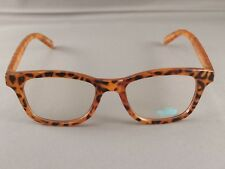 Brown frame Clear lens sunglasses wayfarer womens ladies 80s style nerd glasses