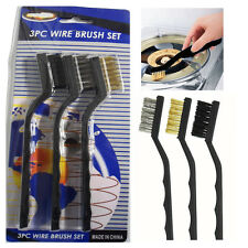 3* Wire Brushes Set for Motor Bike Rust Cleaning Polishing Welding Garage Tools