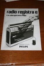 BM18=1972=PHILIPS RADIOREGISTRATORE=PUBBLICITA'=ADVERTISING=WERBUNG=