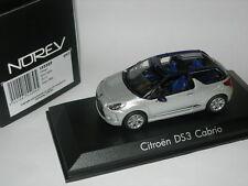 Norev 1:43 155289 Citroen DS3 Cabrio Silver/Blue 2013 NEW