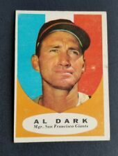 ORIGINAL1961 TOPPS SAN FRANCISCO GIANTS BASEBALL CARD #220 AL DARK EXCELLENT
