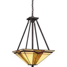 "Illumina Direct TST3066A - Tiffany Pendant 16""W Valiant Bronze Finish 3-Light"