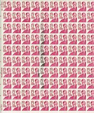 Scott #1288 Oliver W. Holmes .15c full sheet with printer's smudge marks MNH