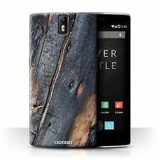 Stuff4 Phone Case/back Cover for OnePlus One /tree Bark Burnt Wood