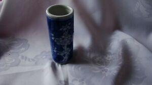 "Mini Bud Vase Blue and White Floral 4"" - Chinese Dogwood Inspired Dollhouse"