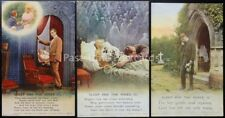 SLEEP AND THE ROSES Bamforth & Co Song Cards set of 3 No 4796/1/2/3