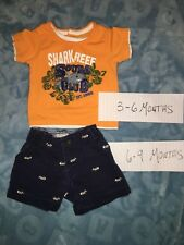 Childrens Place Baby Boy Outfit Set Shorts & Tshirt EUC