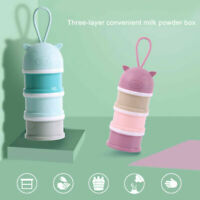 3Layer Portable Baby Milk Powder Formula Dispenser Container Feeding Box