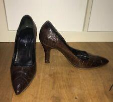 Dolce & Gabanna Brown Croc Shoes Size 37
