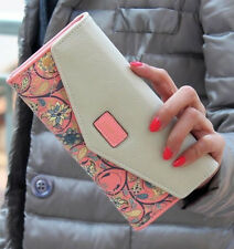 Women Long Envelope Leather Wallet Card Clutch Purse Handbag Mobile Holder Bag