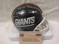 Bill Parcells & Mark Bavaro Autographed Giants Mini Helmet w/Insc.- Steiner Cert