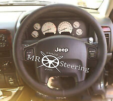 FITS JEEP GRAND CHEROKEE I ZJ TRUE LEATHER STEERING WHEEL COVER DOUBLE STITCHING