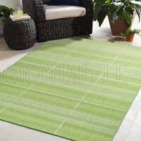 Cabana Green Indoor/Outdoor Modern Floor Rug (M) 160x230cm **FREE DELIVERY**