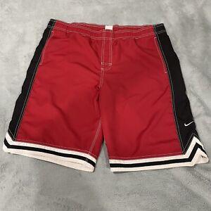 Nike Vintage Swim Trunks Size XL Red Logo Swoosh Shorts