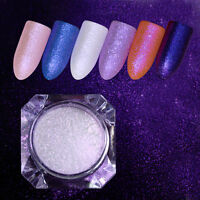 Pearl Mirror Powder Purple   Shiny Dust Nail Glitter Powder Decor