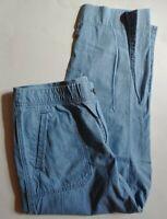 Chicos Cotton Cropped Capri Pants Womens Size 1.5 Medium 10 Blue Summer