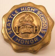 Enamel Seattle High School Honor Ih Vintage Lapel Pin/Tie Tack society team club