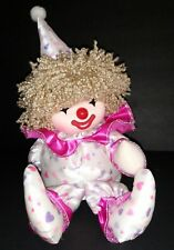 """VINTAGE POTER CLOWN DOLL MOVES AND WIND-UP MUSIC PLAYS """"ITS A SMALL WORLD"""" 1986"""