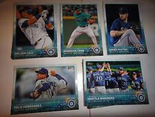 SEATTLE MARINERS, 2015 Topps Limited Edition Glossy TEAM SET==22 CARDS==