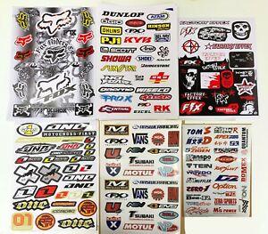 6x Fox FX D&C Monster Sticker Decal Bike Dirt ATV Quad Car Motorcross Motorise