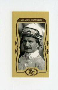 #TN09212 WILLIE SHOEMAKER Anti Tobacco Horse Racing Card