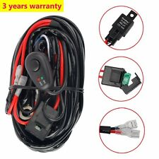 Wiring Harness Kit 12V 40A LED Work Fog Light Bar Relay ON/OFF Switch Cable Kit