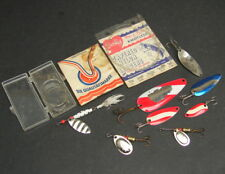 Vintage Fishing Lure Lot Spoons Bait Tackle Little Cleo Wigl Etc