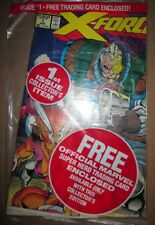 X-Force 1 ERROR VARIANT Still Sealed w) Cable Card 1991 UNIQUE Xmen RARE NM Bagd