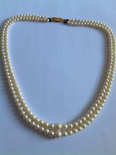 Fine Vintage Double Graduated Cultured Pearl Necklace