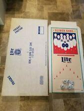 (VTG) Miller lite beer slider bowling pins game slider bowl game room mib rare