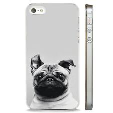 Pug Dog Cute Big Ears CLEAR PHONE CASE COVER fits iPHONE 5 6 7 8 X