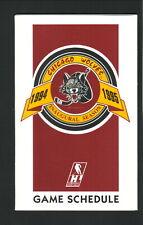 Chicago Wolves--1994-95 Pocket Schedule--Coke