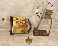 Junghans A20 Brass Movement  & Pendulum 4 Rod & 1 Wire Gong Unit Early 1900s