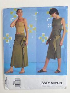 Issey Miyake Wrap Skirt Dress Pattern 2556 Vogue Designer Original 8-10-12