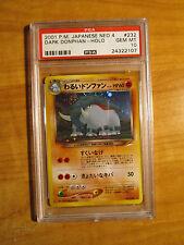 Japanese PSA 10 Pokemon DARK DONPHAN Card NEO DESTINY 4 Darkness and to Light
