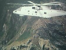 large postcard EH 101 merlin helicopter RNAS culdrose creased