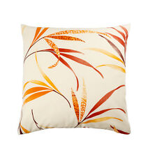 LUXURY HEAVY WEIGHT FABRIC Cotton Cushion Covers RETRO FLORAL Vintage LEAVES !!!