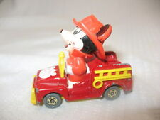 VTG TOMY Diecast Mickey Mouse FIREMAN Walt Disney PD-2 Japan  Fire Truck ~3D16C
