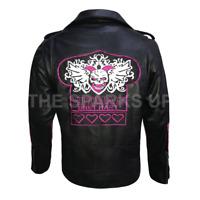Bret Hitman Hart WWE Legend Biker Leather Jacket - BEST QUALITY - HUGE SALE ON!!