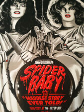 SPIDER BABY -  2013 Gary Pullin poster print Jack Hill horror film Sci-fi MONDO