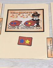 Thanksgiving -  File Folder Game  - Activity Set - Same & Different Sort