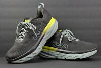 Hoka One One Bondi 6 Men's Size US 8.5 Running Shoes Gray Yellow 1019269