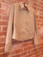 CHELSEY & JACK Beige Cotton Long Sleeve Button Down Shirt Top Women S HiddenJuel