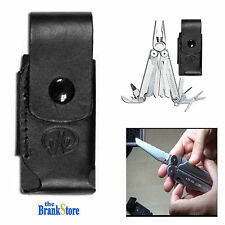 """Black Leather Sheath Premium 4.5"""" For Wave CORE Charge TTi Side Pocket Case"""