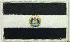EL SALVADOR Flag Embroidered Iron-On Patch Black & White Version  #059