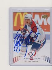 08-09 UD MONTREAL CANADIEN CENTENNIAL #137  BOBBY SMITH SIGNED/AUTO NO-1364