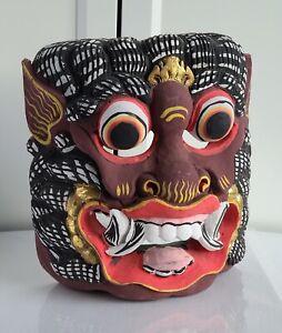 Vintage Hand Carved WOOD Painted Dance MASK HANUMAN INDONESIA BALI