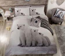 Rapport Polar Bear Winter Snow Arctic Duvet Cover Bedding Set White